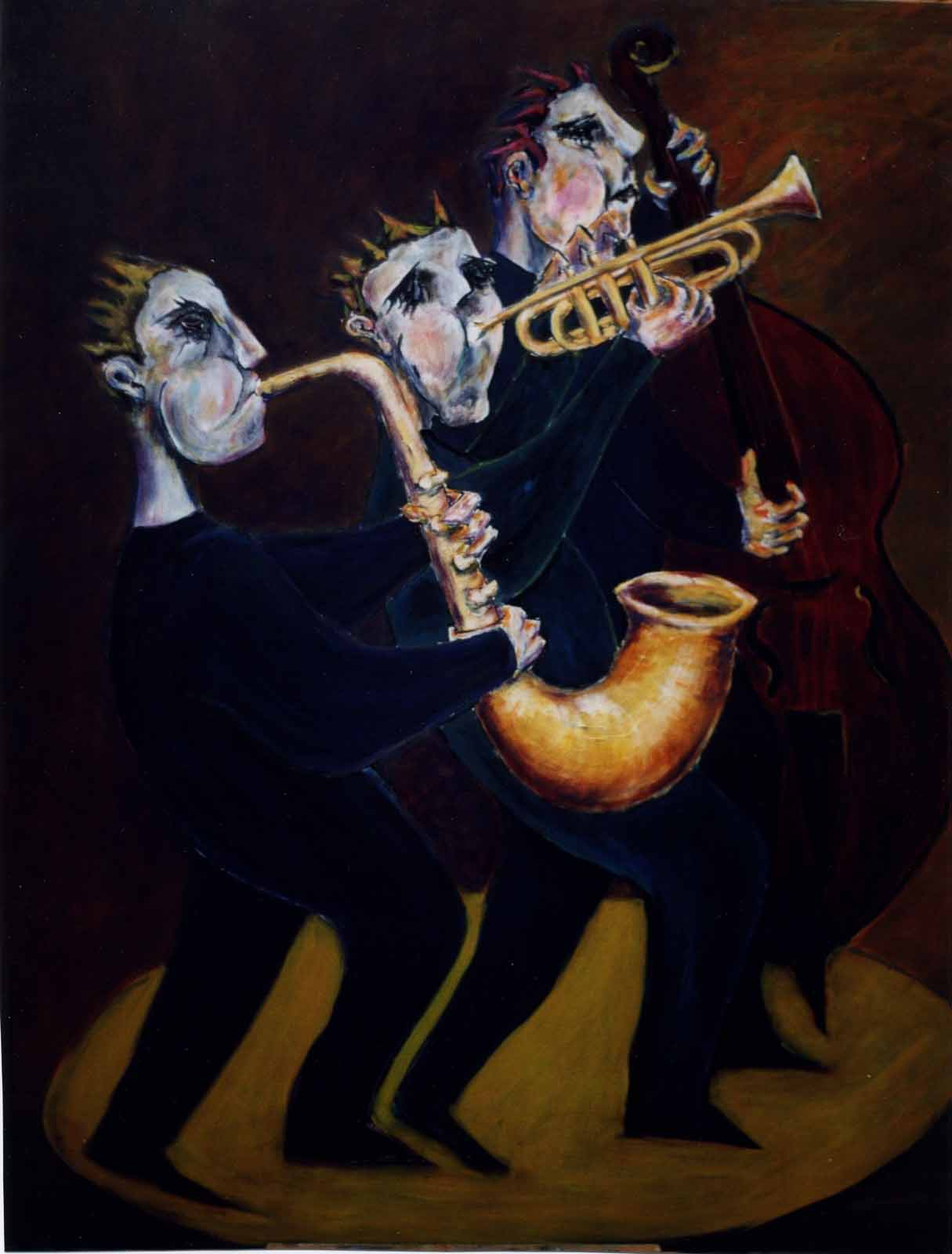 three jazz musicians