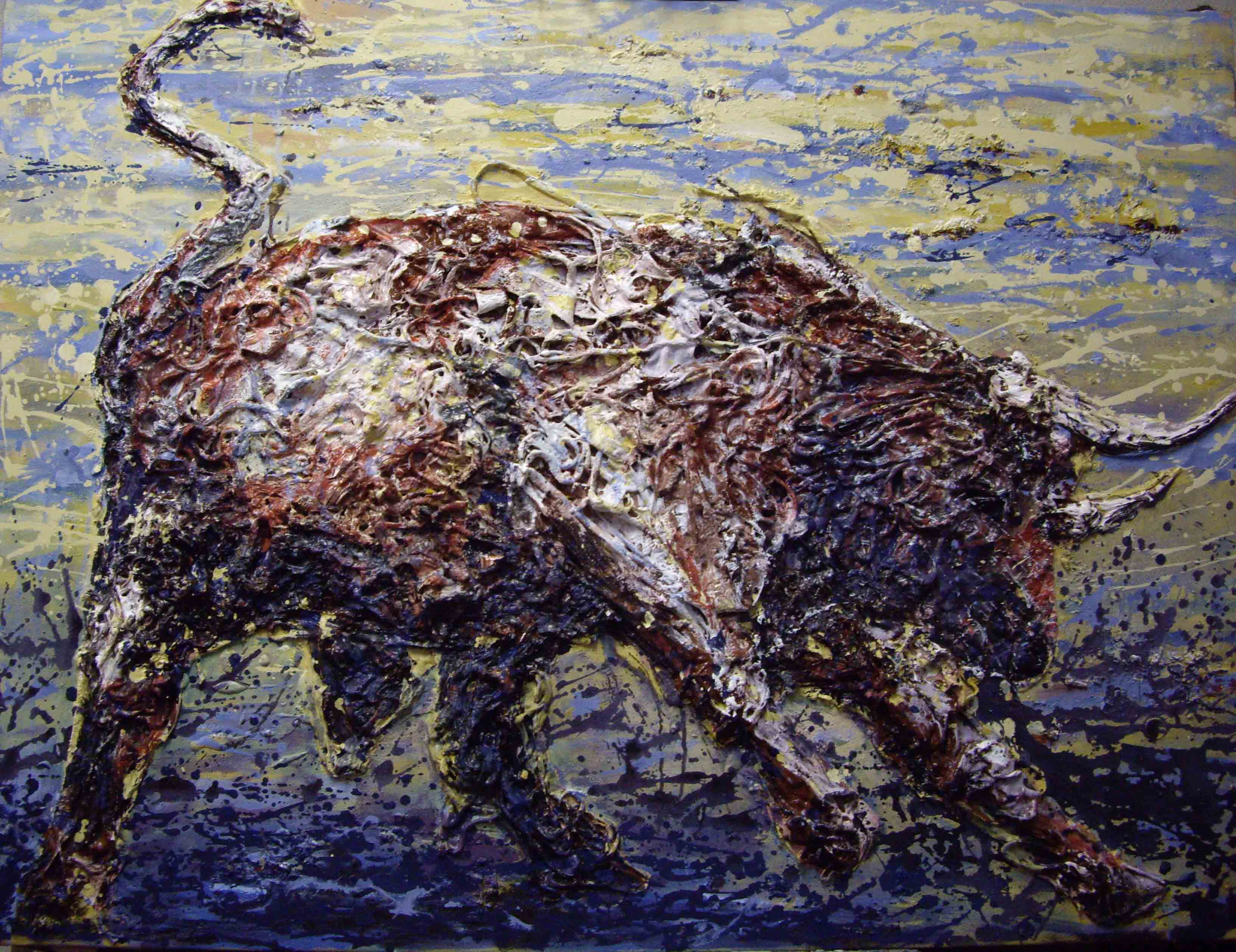 Bull in the marshlands